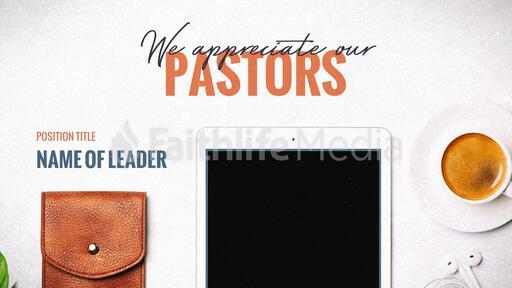 We Appreciate Our Pastors