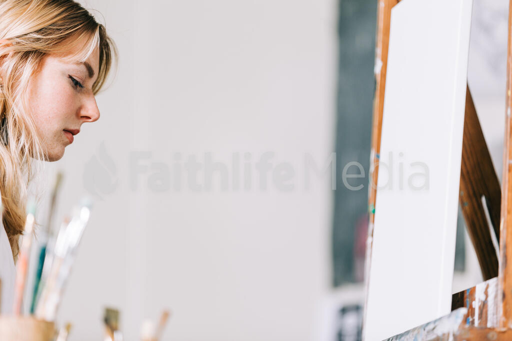 A Woman Painting large preview