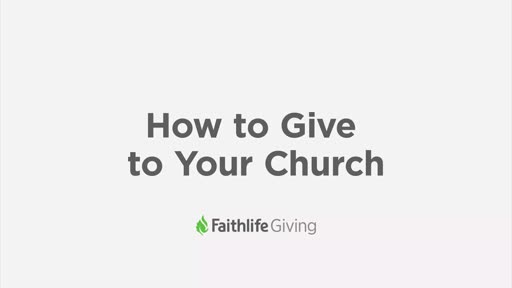 How To Give To Your Church