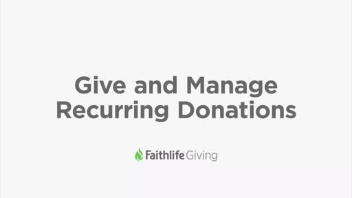 Give And Manage Recurring Gifts