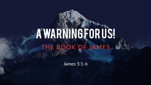A Warning For Us!