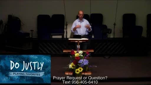 Message (Dr. Benjamin Karner)   Playing Favorites: Do Justly