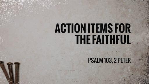 Action Items for the Faithful