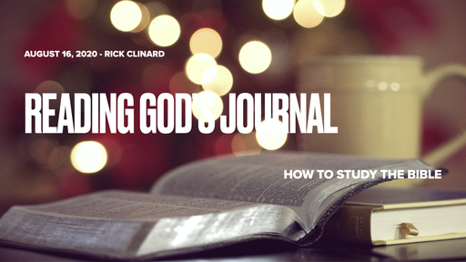 8/16/20 - Reading God's Journal