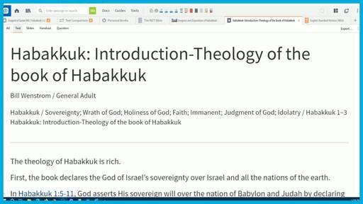 Habakkuk: Introduction-Theology of the book of Habakkuk