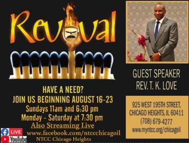 Revival Saturday PM Service 08/22/2020 -