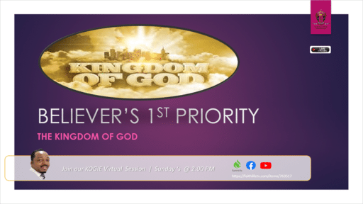 The Believer's 1st Priority | Mercury Thoma-Ha, PhD | Sunday, August 23, 2020 @ 2:30 PM