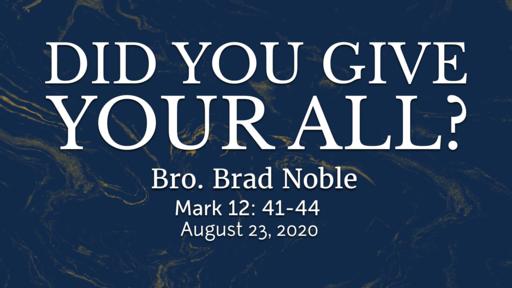 UMBC Sunday Night Service 08-23-2020