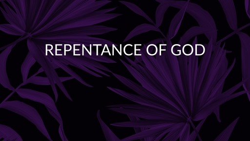 Repentance of God