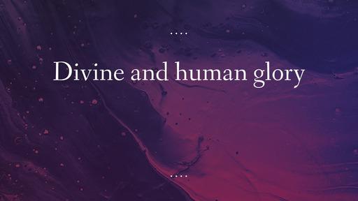 Divine and human glory