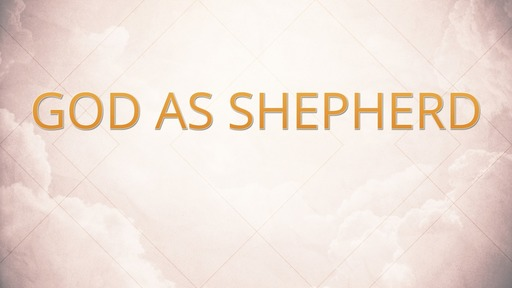 God as shepherd