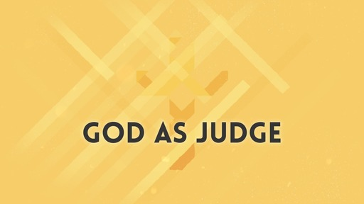 God as judge
