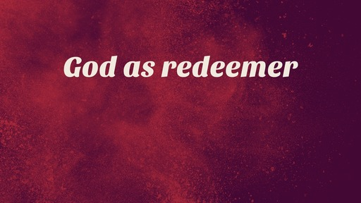 God as redeemer