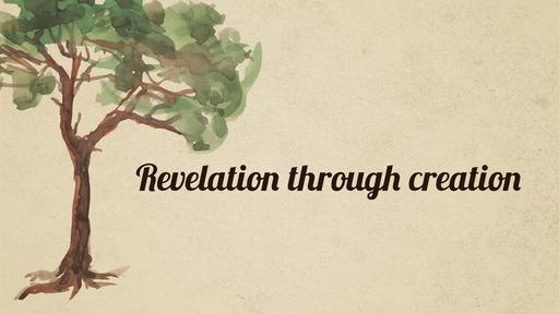Revelation through creation