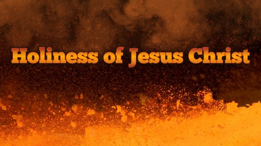 Holiness of Jesus Christ