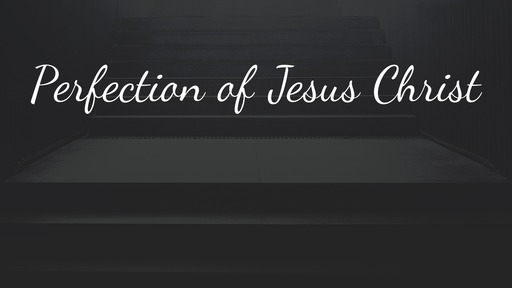 Perfection of Jesus Christ