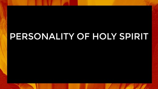 Personality of Holy Spirit