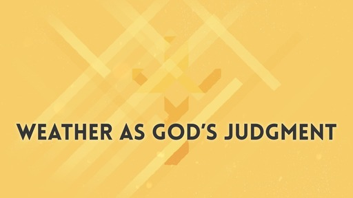 Weather as God's judgment