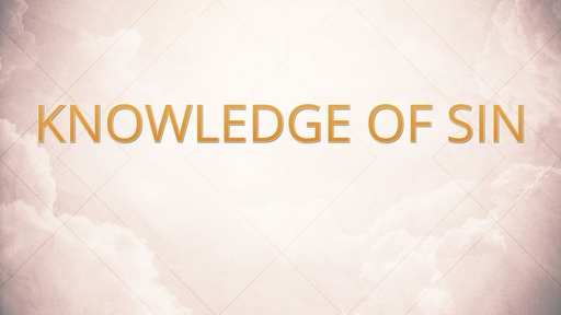 Knowledge of sin
