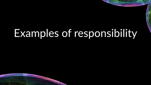 Examples of responsibility