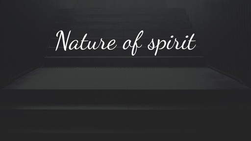 Nature of spirit