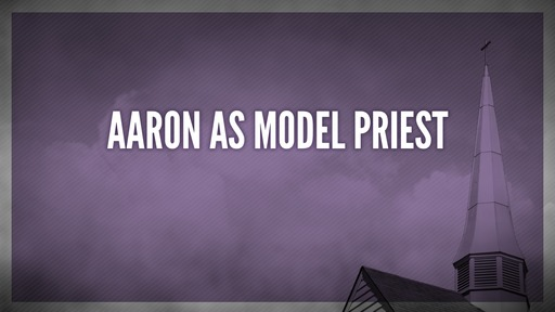 Aaron as model priest
