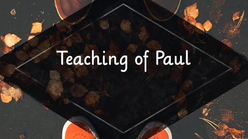 Teaching of Paul