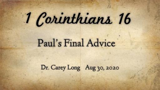 Paul's Final Advice