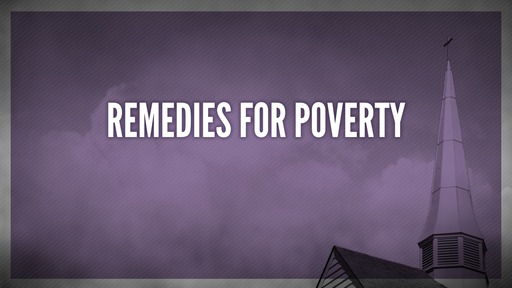 Remedies for poverty