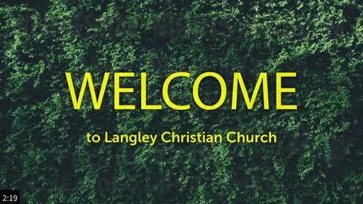 Sunday Worship Service, August 30, 2020
