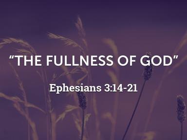 """""""The Fullness of God"""""""