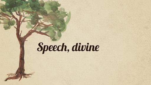 Speech, divine