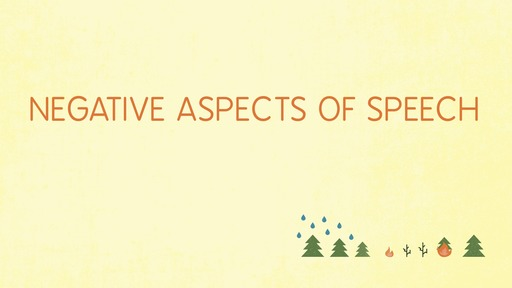Negative aspects of speech