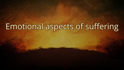 Emotional aspects of suffering