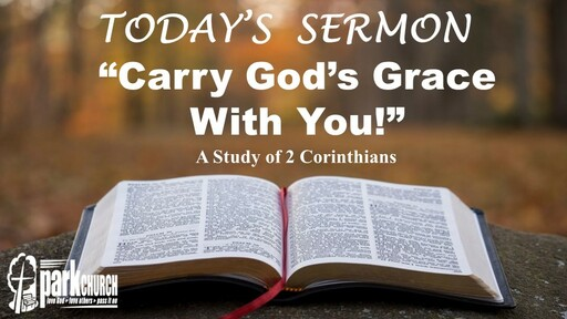 Carry God's Grace With You!