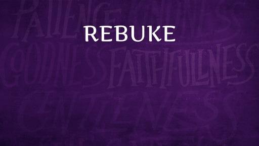 Rebuke