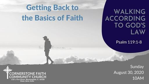 August 30, 2020 - Walking According to God's Law