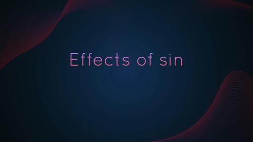 Effects of sin