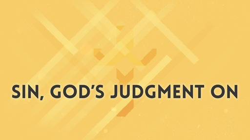 Sin, God's judgment on
