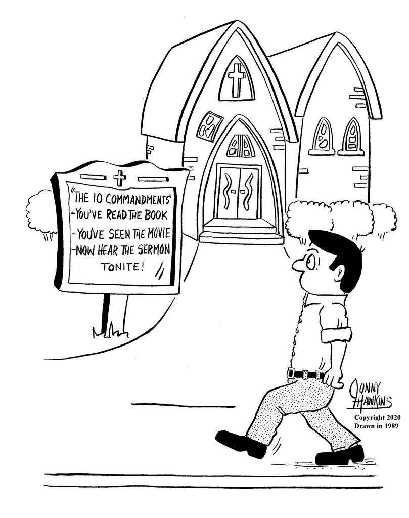 Ten Commandments Sign large preview
