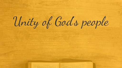 Unity of God's people