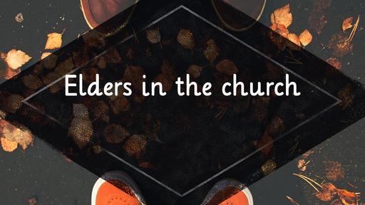 Elders in the church