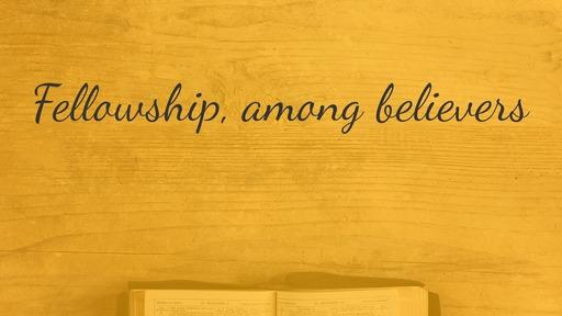 Fellowship, among believers