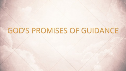 God's promises of guidance
