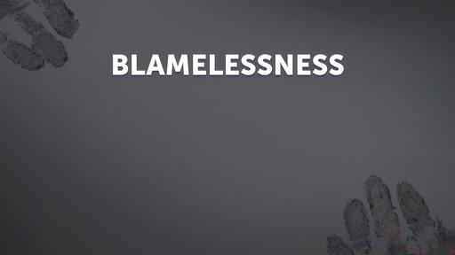 Blamelessness