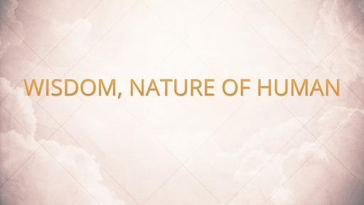 Wisdom, nature of human