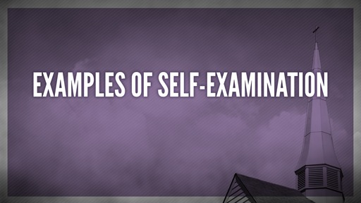 Examples of self-examination