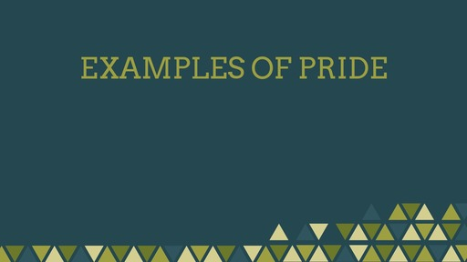 Examples of pride