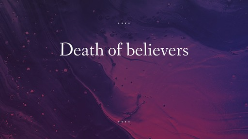 Death of believers