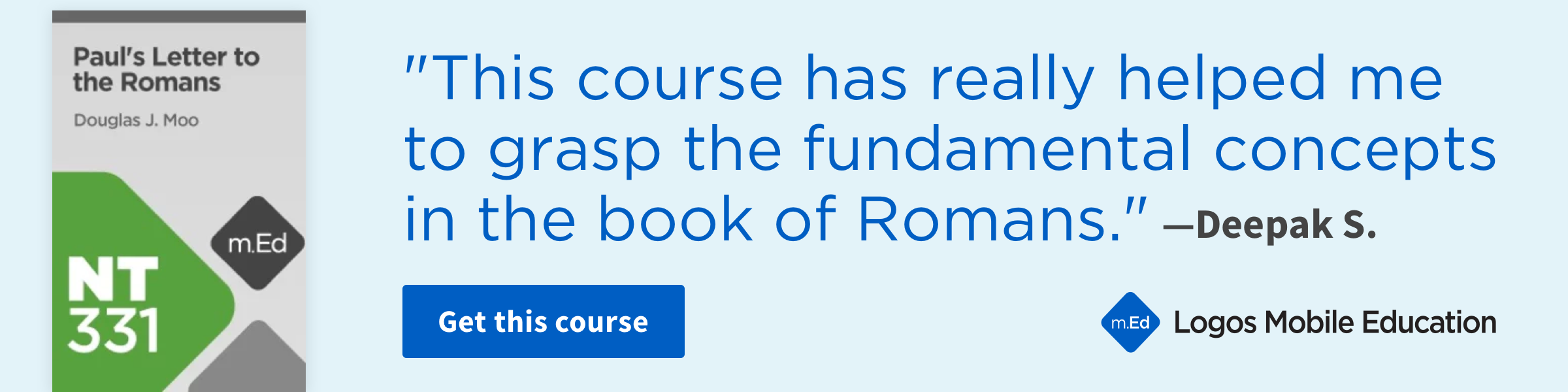 Book Study Course: Paul's Letter to the Romans